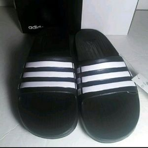 bccfa0f0a00075 adidas Shoes - Brand New Adidas Duramo Slide K G06799 Black White